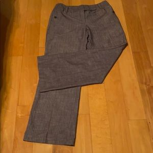 NWOT Trouser Pants Gray and White Pin Stripes